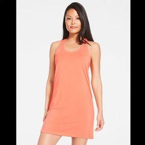 Fabletics Pryor Orange Cross Back Tank Dress Sz M